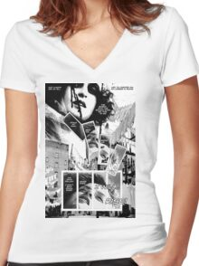 Faith Fallon Graphic Novel Page © Steven Pennella Women's Fitted V-Neck T-Shirt