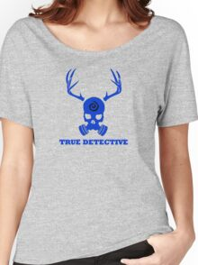 True Detective - Gas Mask - Blue Women's Relaxed Fit T-Shirt