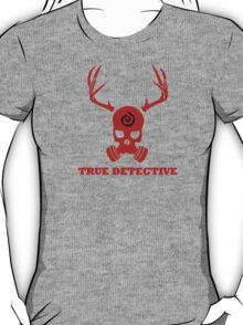 True Detective - Gas Mask - Red T-Shirt