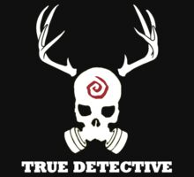 True Detective - Gas Mask - White T-Shirt