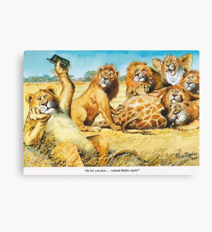 Animal rights Canvas Print