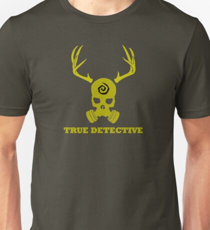 True Detective - Gas Mask - Yellow Unisex T-Shirt
