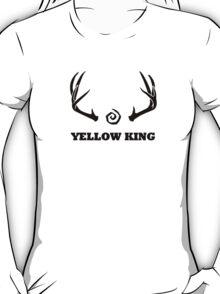 True Detective - Yellow King Antlers - Black T-Shirt