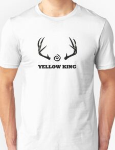 True Detective - Yellow King Antlers - Black Unisex T-Shirt