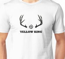 True Detective - Yellow King Antlers - Black Unisex T-Shirt