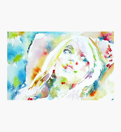 BARBARA - watercolor portrait Photographic Print