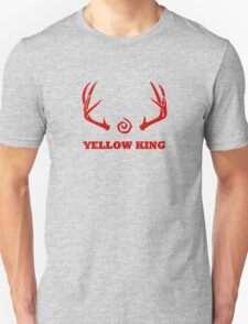 True Detective - Yellow King Antlers - Red Unisex T-Shirt