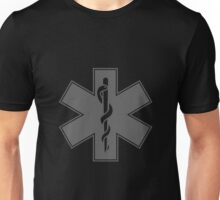 Ambulance Black and White Star of Life Unisex T-Shirt