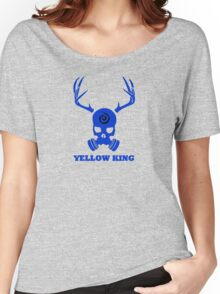 True Detective - Yellow King Gas Mask - Blue Women's Relaxed Fit T-Shirt