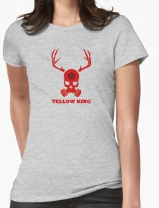 True Detective - Yellow King Gas Mask - Red Womens Fitted T-Shirt