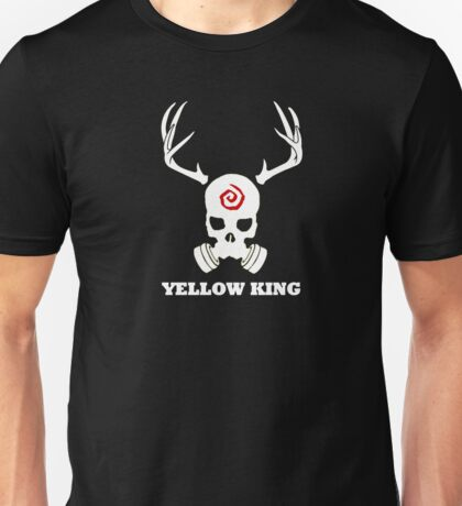 True Detective - Yellow King Gas Mask - White Unisex T-Shirt