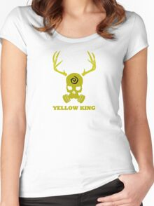 True Detective - Yellow King Gas Mask - Yellow Women's Fitted Scoop T-Shirt