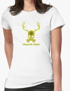 True Detective - Yellow King Gas Mask - Yellow Womens Fitted T-Shirt