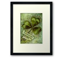 Shamrock for Ireland Framed Print