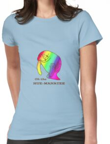 Oh the Hue-Manatee Womens Fitted T-Shirt
