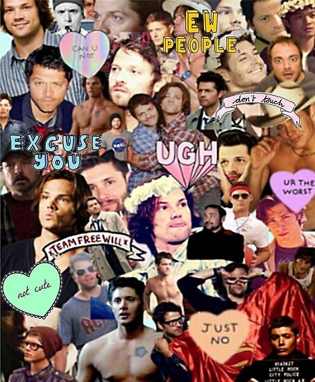 spn collage by gwynnethann