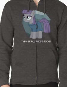 They're all about rocks - Maud Zipped Hoodie