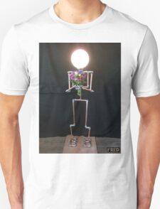 Lamp Lady - Adjustable Life Sized Human Metal Sculpture - FredPereiraStudios.com T-Shirt