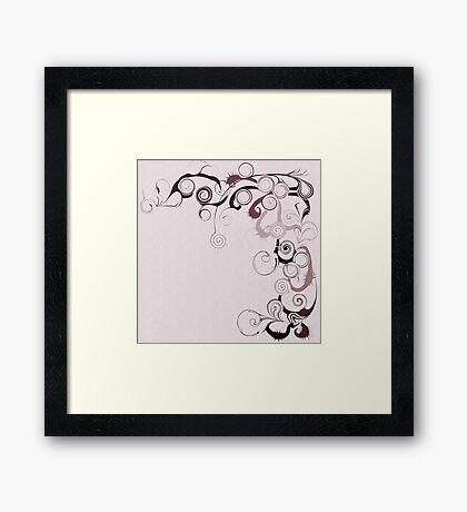 Pink Swirls And Twirls Framed Print