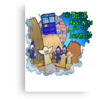 Doctor goes to Trenzalore Canvas Print