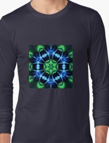Blue Ring Rose Long Sleeve T-Shirt