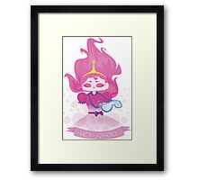 PB, Chemical formula for bubblegum Framed Print