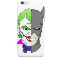 Joker side of Batman iPhone Case/Skin