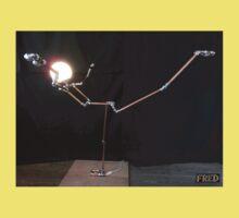 Lamp Lady - Adjustable Life Sized Human Metal Sculpture - FredPereiraStudios.com Kids Tee