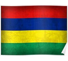 Mauritius Flag Poster