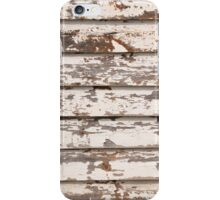Grungy wooden background iPhone Case/Skin