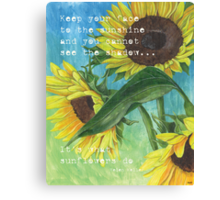 Vince's Sunflowers 2 Canvas Print