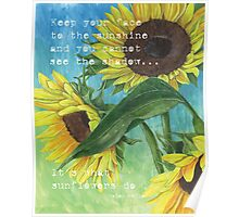 Vince's Sunflowers 2 Poster