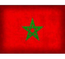 Morocco Flag Photographic Print