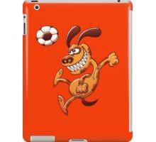 Brave dog heading a soccer ball iPad Case/Skin