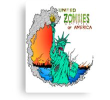 Zombies of America Canvas Print