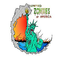 Zombies of America Photographic Print