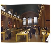 Apple Store, Balcony of Grand Central Terminal, New York City Poster