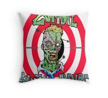 Zombie Shooting Range Throw Pillow
