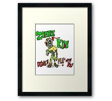 Zombie Kids Framed Print