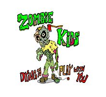 Zombie Kids Photographic Print