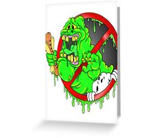 Ghostbusters Slimer Greeting Card
