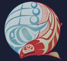 Circling Salmon One Piece - Long Sleeve