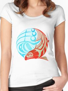 Circling Salmon Women's Fitted Scoop T-Shirt