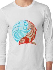 Circling Salmon Long Sleeve T-Shirt