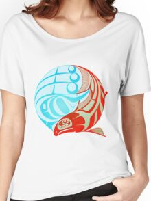 Circling Salmon Women's Relaxed Fit T-Shirt