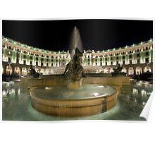 Piazza Della Repubblica by Night Poster