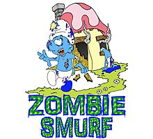 Zombie Smurf Photographic Print