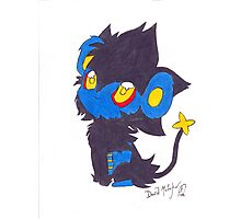 Luxray Pokemon Poster Print Photographic Print