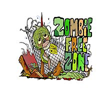 Zombie Free Zone Photographic Print