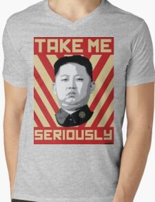 Kim Jung Un wants your respect. Mens V-Neck T-Shirt